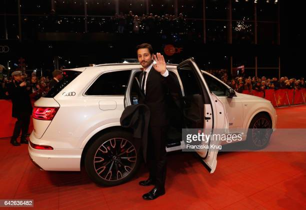 Jury member Diego Luna arrives the closing ceremony of the 67th Berlinale International Film Festival at Berlinale Palace on February 18 2017 in...