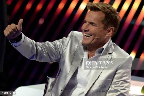 Jury member Dieter Bohlen reacts during the finals of 'Das Supertalent' at Coloneum on December 14 2013 in Cologne Germany