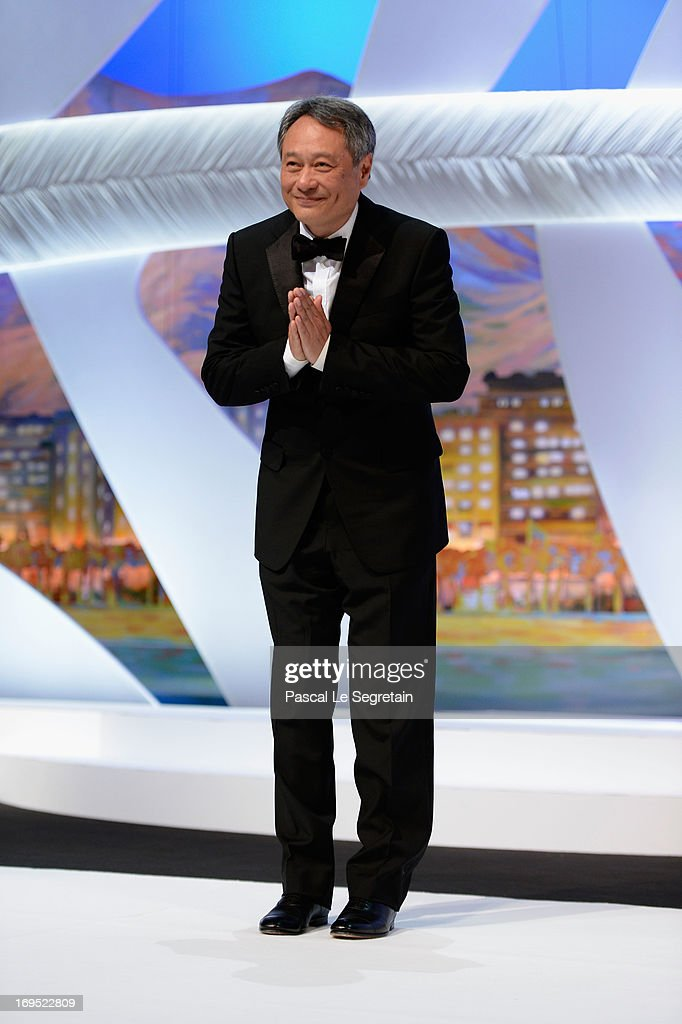 Jury member director <a gi-track='captionPersonalityLinkClicked' href=/galleries/search?phrase=Ang+Lee&family=editorial&specificpeople=215104 ng-click='$event.stopPropagation()'>Ang Lee</a> stands on stage during the Closing Ceremony of the 66th Annual Cannes Film Festival at the Palais des Festivals on May 26, 2013 in Cannes, France.