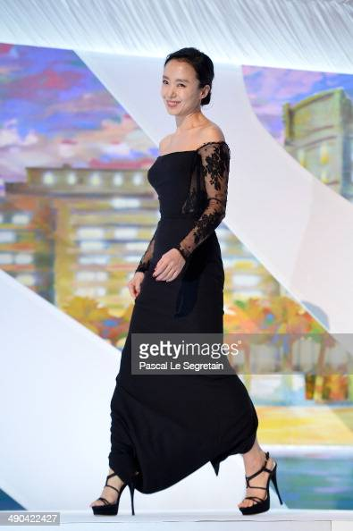 Jury member Doyeon Jeon attends the Opening ceremony during the 67th Annual Cannes Film Festival on May 14 2014 in Cannes France