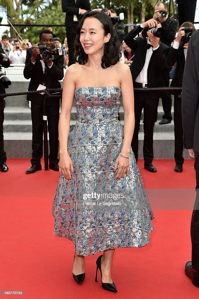 Jury member Do-yeon Jeon attends the red carpet for the Palme D'Or winners at the 67th Annual Cannes Film Festival on May 25, 2014 in Cannes, France.