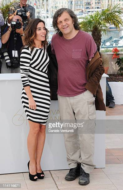 Jury member Elodie Bouchez and Un Certain Regard Jury President Emir Kusturica attend the Un Certain Regard Jury Photocall during the 64th Annual...