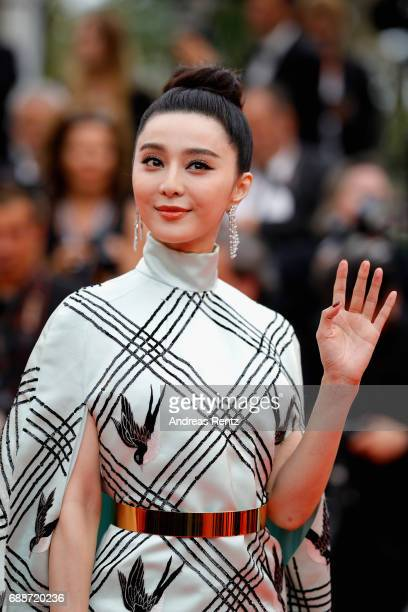 Jury member Fan Bingbing attends the 'Amant Double ' screening during the 70th annual Cannes Film Festival at Palais des Festivals on May 26 2017 in...