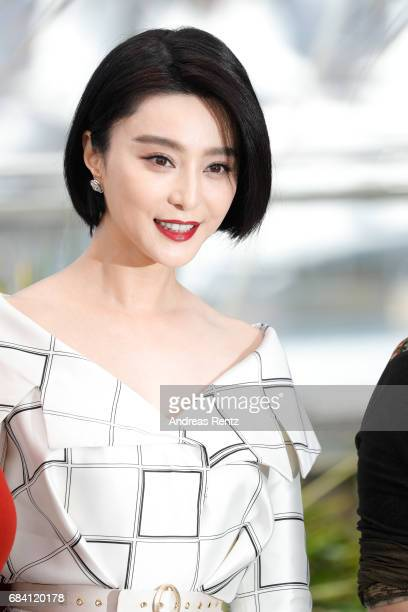 Jury member Fan Bingbing attends the Jury photocall during the 70th annual Cannes Film Festival at Palais des Festivals on May 17 2017 in Cannes...