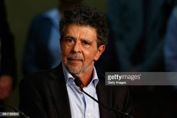 Jury member Gabriel Yared attends the Jury press conference during the 70th annual Cannes Film Festival at Palais des Festivals on May 17 2017 in...