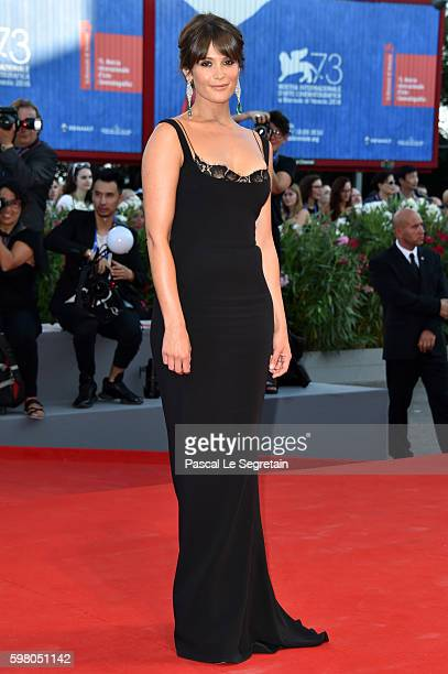 Jury member Gemma Arterton attends the opening ceremony and premiere of 'La La Land' during the 73rd Venice Film Festival at Sala Grande on August 31...