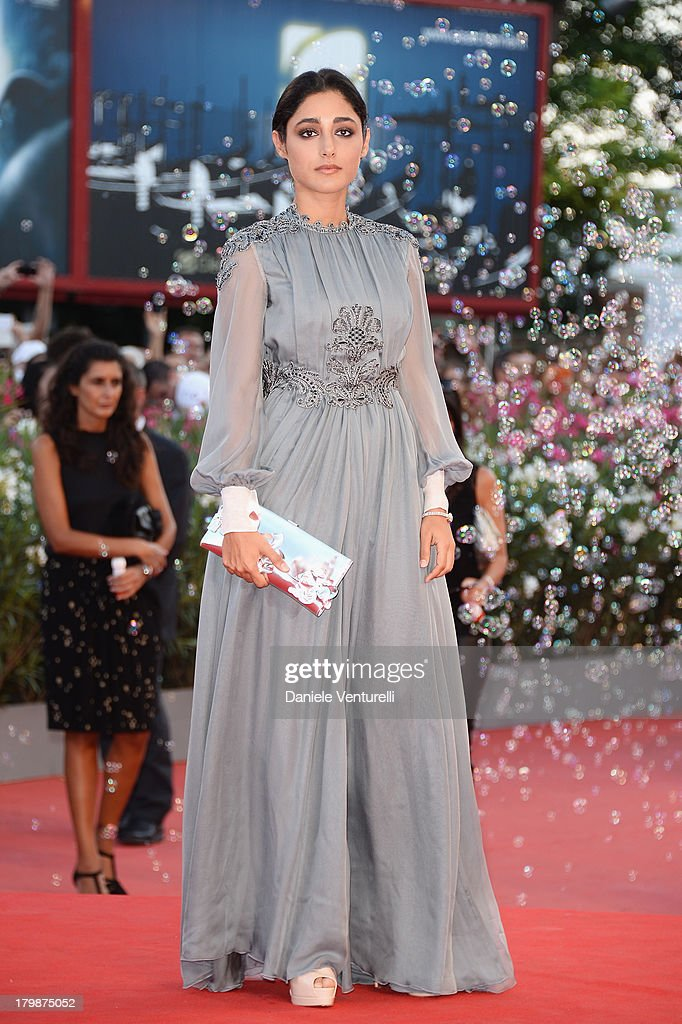 Jury Member <a gi-track='captionPersonalityLinkClicked' href=/galleries/search?phrase=Golshifteh+Farahani&family=editorial&specificpeople=5535488 ng-click='$event.stopPropagation()'>Golshifteh Farahani</a> arrives at the closing ceremony of the 70th Venice International Film Festival at Palazzo del Cinema on September 7, 2013 in Venice, Italy.