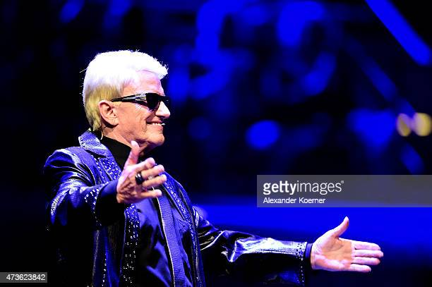 Jury member Heino is seen during the live finals of the television show 'Deutschland sucht den Superstar' on May 16 2015 in Bremen Germany