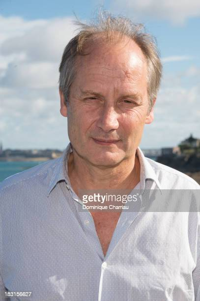 Jury member Hippolyte Girardot poses for a photocall during the 24th Dinard British film festival on October 5 2013 in Dinard France
