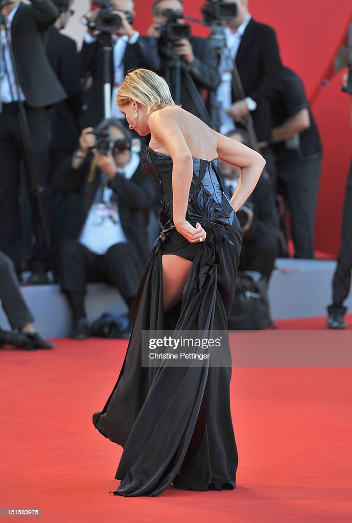 Jury member Isabella Ferrari attends Award Ceremony during The 69th Venice Film Festival at the Palazzo del Cinema on September 8, 2012 in Venice, Italy.