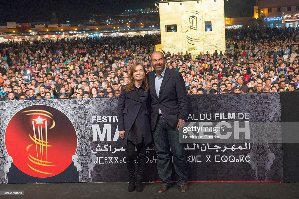 Jury Member Isabelle Huppert and director Marc Fitoussi present 'La Ritournelle' during 14th Marrakech International Film Festival at Jemaa elFnaa...