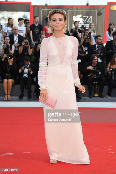 Jury member Jasmine Trinca walks the red carpet ahead of the 'Downsizing' screening and Opening Ceremony during the 74th Venice Film Festival at Sala...