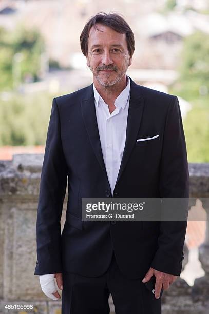 Jury member JeanHugues Anglade attends the Jury photocall during the 8th Angouleme FrenchSpeaking Film Festival on August 25 2015 in Angouleme France
