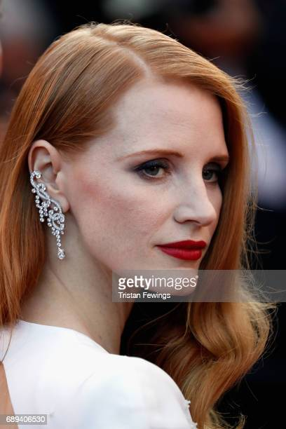 Jury member Jessica Chastain attends the Closing Ceremony of the 70th annual Cannes Film Festival at Palais des Festivals on May 28 2017 in Cannes...