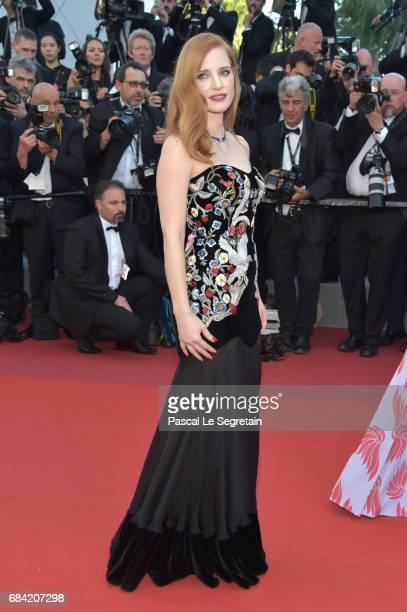 Jury member Jessica Chastain attends the 'Ismael's Ghosts ' screening and Opening Gala during the 70th annual Cannes Film Festival at Palais des...