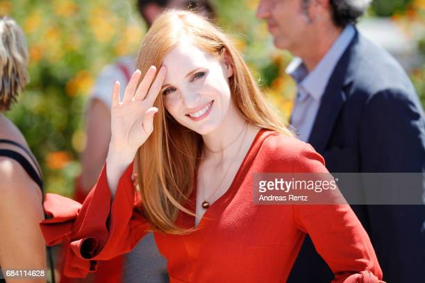 Jury member Jessica Chastain attends the Jury photocall during the 70th annual Cannes Film Festival at Palais des Festivals on May 17 2017 in Cannes...