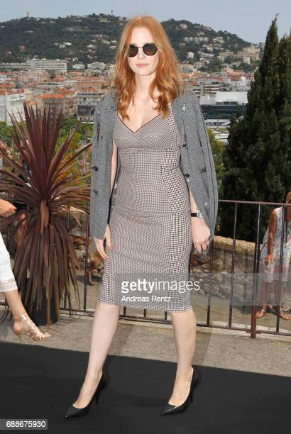 Jury member Jessica Chastain attends the Mayor's Aioli during the 70th annual Cannes Film Festival at Palais des Festivals on May 26 2017 in Cannes...