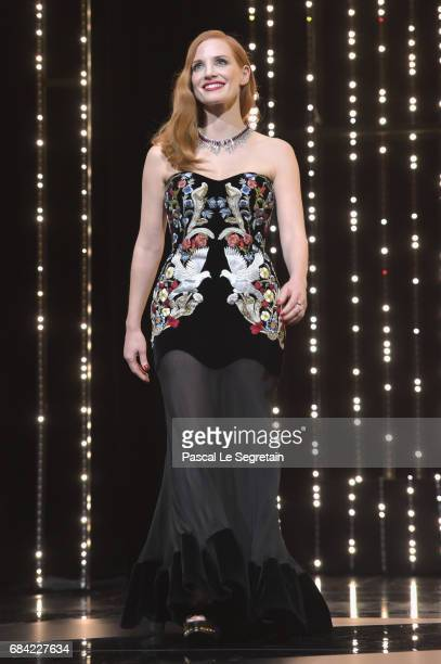 Jury member Jessica Chastain during the Opening Ceremony of the 70th annual Cannes Film Festival at Palais des Festivals on May 17 2017 in Cannes...