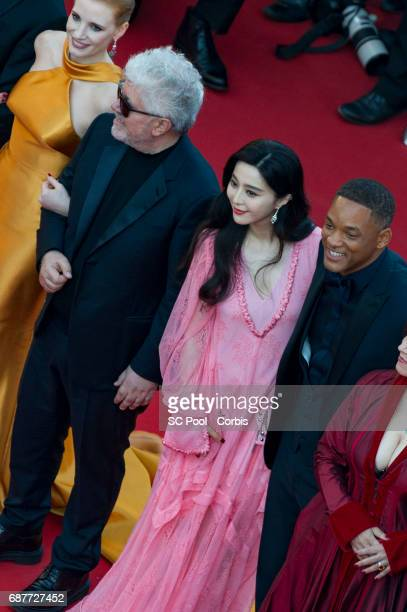 Jury member Jessica Chastain President of the jury Pedro Almodovar jury members Fan Bingbing and Will Smith attend the 70th Anniversary of the 70th...