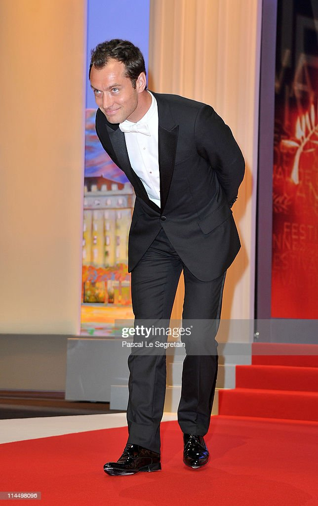 Jury member Jude Law on stage the Closing Ceremony at the Palais des Festivals during the 64th Cannes Film Festival on May 22 2011 in Cannes France