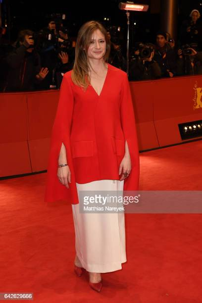 Jury member Julia Jentsch arrives for the closing ceremony of the 67th Berlinale International Film Festival Berlin at Berlinale Palace on February...