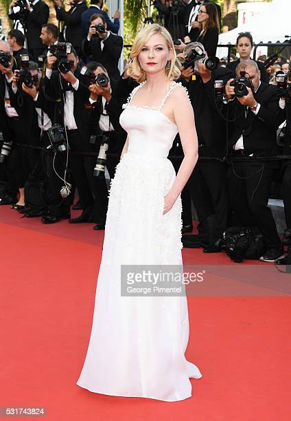 Jury Member Kirsten Dunst attends the 'Loving' Premiere at the annual 69th Cannes Film Festival at Palais des Festivals on May 16 2016 in Cannes...