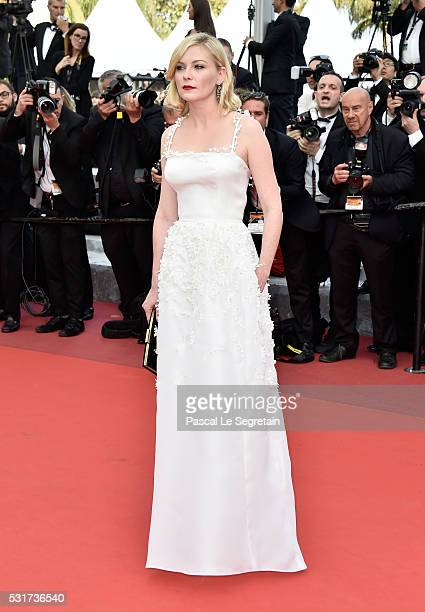 Jury Member Kirsten Dunst attends the 'Loving' premiere during the 69th annual Cannes Film Festival at the Palais des Festivals on May 16 2016 in...
