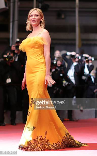 Jury member Kirsten Dunst attends 'The Neon Demon' Premiere during the 69th annual Cannes Film Festival at the Palais des Festivals on May 20 2016 in...