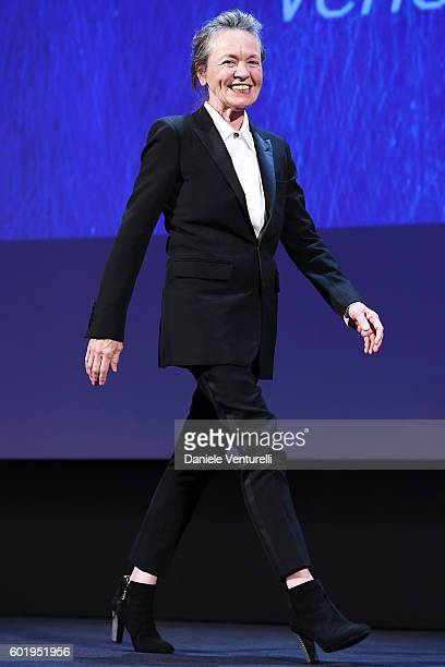 Jury member Laurie Anderson attends the closing ceremony of the 73rd Venice Film Festival at Sala Grande on September 10 2016 in Venice Italy