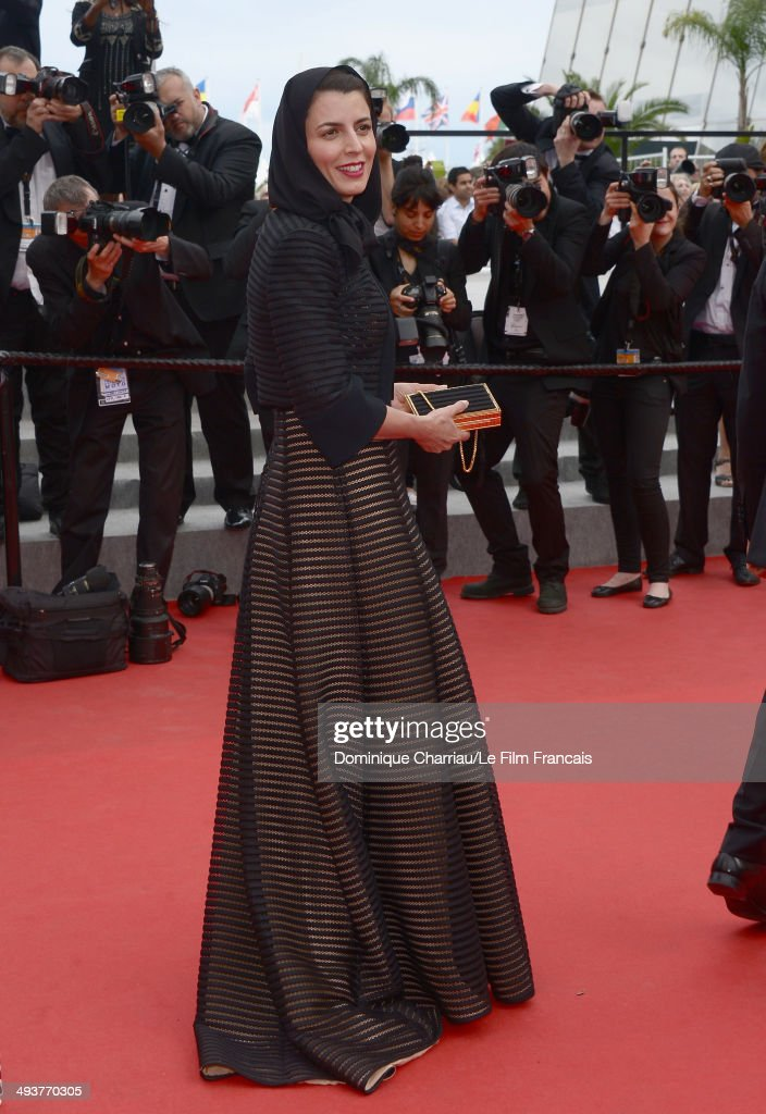 Jury Member <a gi-track='captionPersonalityLinkClicked' href=/galleries/search?phrase=Leila+Hatami&family=editorial&specificpeople=7082232 ng-click='$event.stopPropagation()'>Leila Hatami</a> attends the red carpet for the Palme D'Or winners at the 67th Annual Cannes Film Festival on May 25, 2014 in Cannes France.