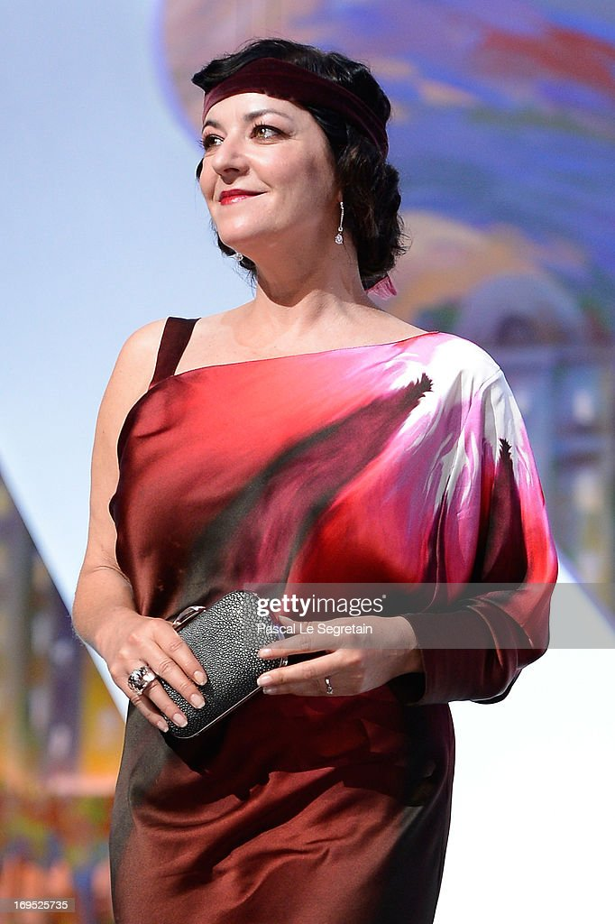 Jury member Lynne Ramsay on stage at the Closing Ceremony during the 66th Annual Cannes Film Festival at the Palais des Festivals on May 26 2013 in...