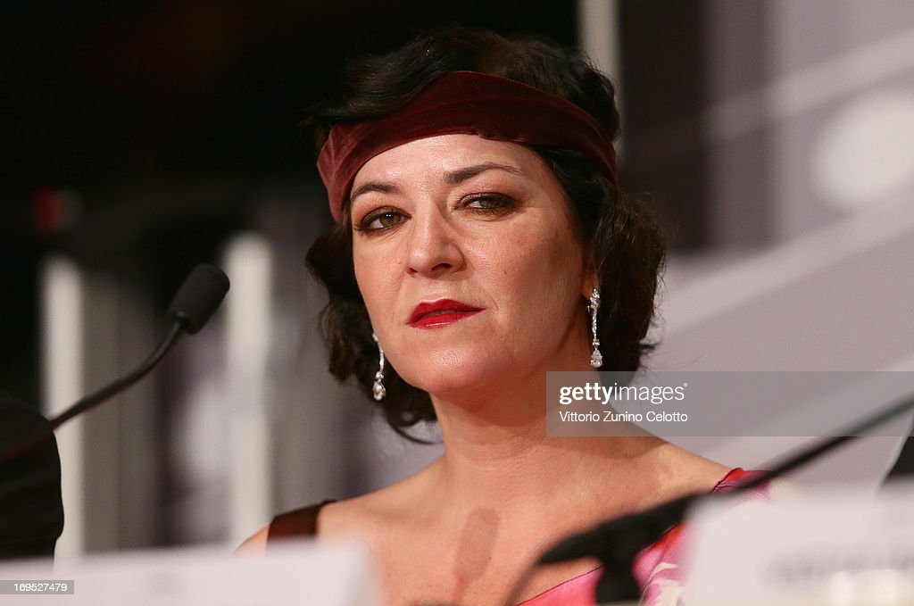 Jury member Lynne Ramsay speaks at the Palme D'Or Winners Press Conference during the 66th Annual Cannes Film Festival at the Palais des Festivals on...