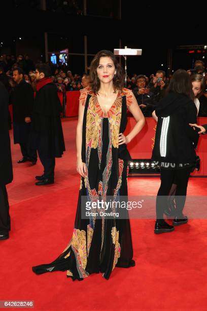 Jury member Maggie Gyllenhaal arrives for the closing ceremony of the 67th Berlinale International Film Festival Berlin at Berlinale Palace on...