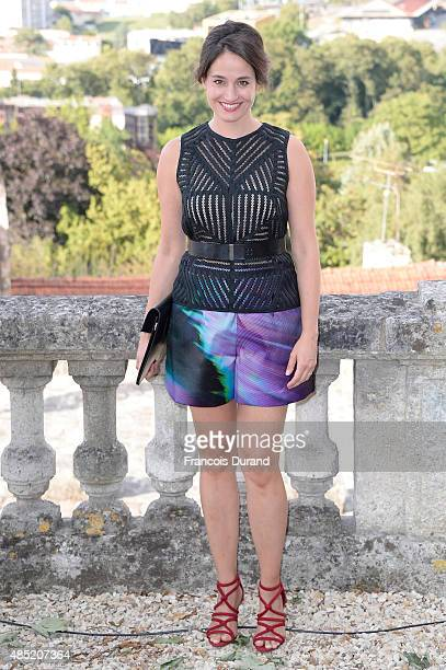 Jury member Marie Gillain attends the Jury photocall during the 8th Angouleme FrenchSpeaking Film Festival on August 25 2015 in Angouleme France