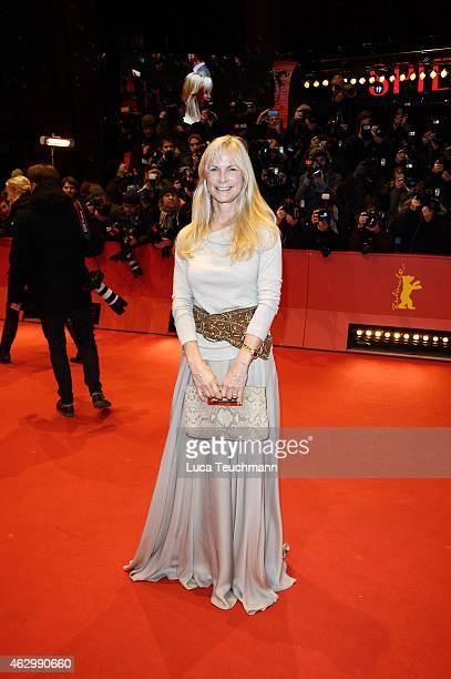 Jury member Martha De Laurentiis attends the 'Knight of Cups' premiere during the 65th Berlinale International Film Festival at Berlinale Palace on...