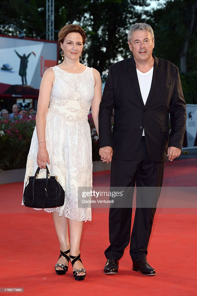 Jury member Martina Gedeck and Markus Imboden attend 'La Jalousie' Premiere during the 70th Venice International Film Festival at the Sala Grande on September 5, 2013 in Venice, Italy.
