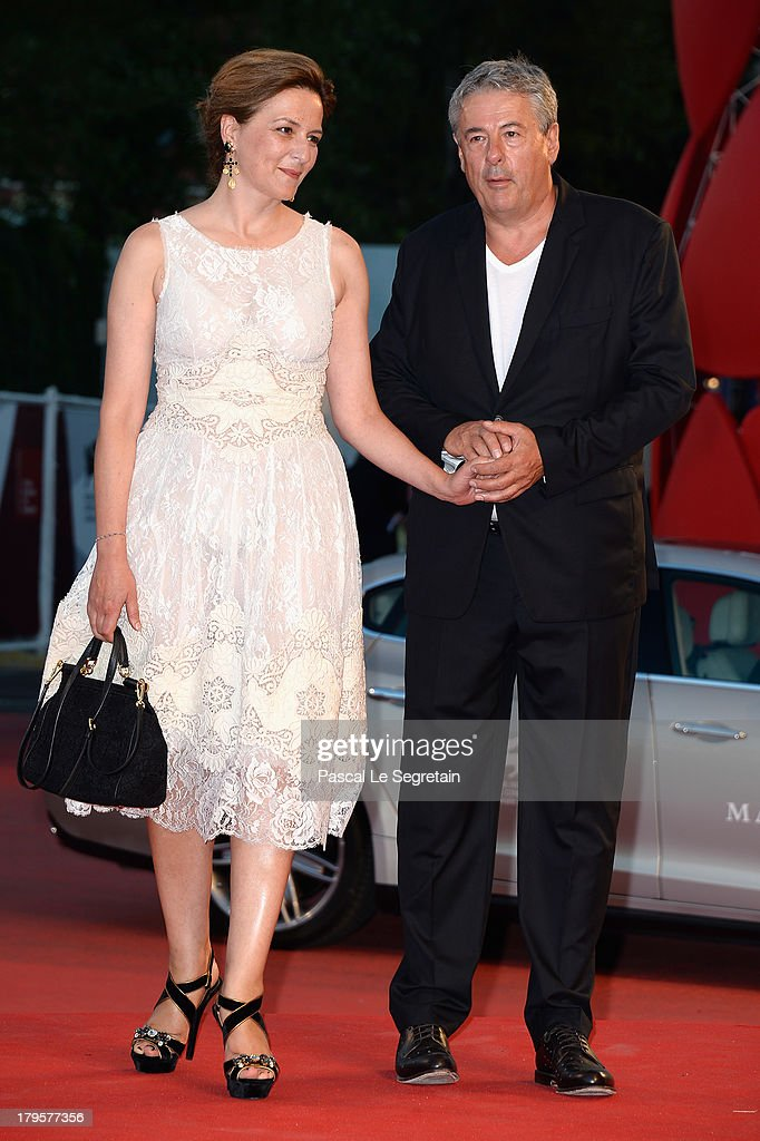 Jury member Martina Gedeck and Markus Imboden attend 'the 'Jealousy' Premiere during the 70th Venice International Film Festival at the Palazzo del Cinema on September 5, 2013 in Venice, Italy.