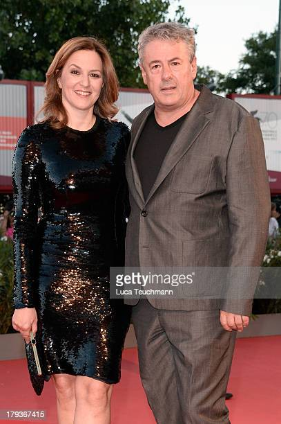 Jury member Martina Gedeck and Markus Imboden attend the 'The Zero Theorem' Premiere during the 70th Venice International Film Festival at Sala...