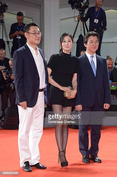Jury member Moon Sori attend the premiere of 'Brimstone' during the 73rd Venice Film Festival at Sala Grande on September 3 2016 in Venice Italy