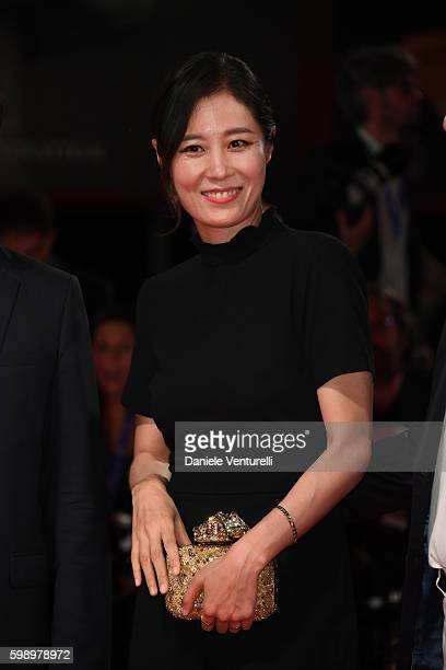Jury member Moon Sori attends the premiere of 'Brimstone' during the 73rd Venice Film Festival at Sala Grande on September 3 2016 in Venice Italy