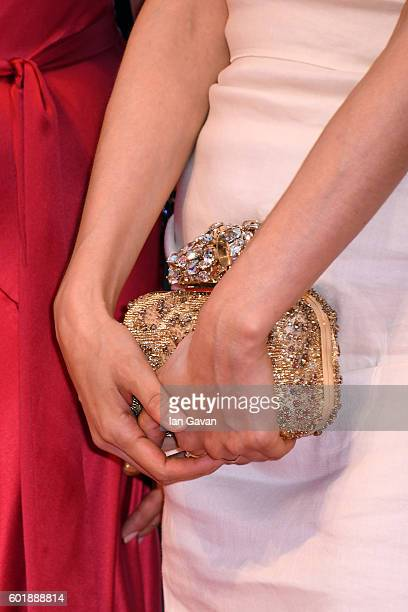 Jury member Moon Sori bag detail attends the closing ceremony of the 73rd Venice Film Festival at Sala Grande on September 10 2016 in Venice Italy