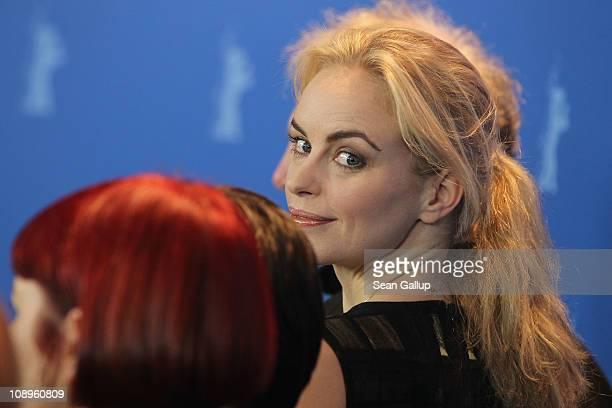 Jury member Nina Hoss attend the International Jury Photocall during day one of the 61st Berlin International Film Festival at the Grand Hyatt on...