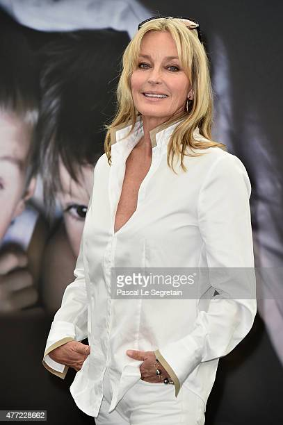 Jury member of the 55th Monte Carlo TV Festival Bo Derek attends a photocall on June 15 2015 in MonteCarlo Monaco