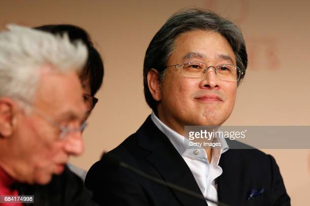 Jury member Park ChanWook attends the Jury press conference during the 70th annual Cannes Film Festival at Palais des Festivals on May 17 2017 in...