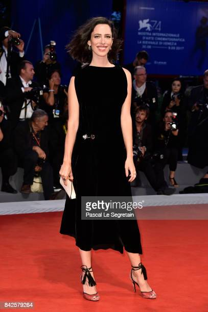 Jury member Rebecca Hall walks the red carpet ahead of the 'Three Billboards Outside Ebbing Missouri' screening during the 74th Venice Film Festival...