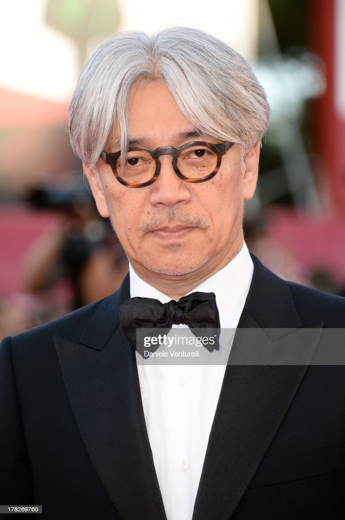 Jury member Ryuichi Sakamoto attends 'Gravity' premiere and Opening Ceremony during The 70th Venice International Film Festival at Sala Grande on August 28, 2013 in Venice, Italy.