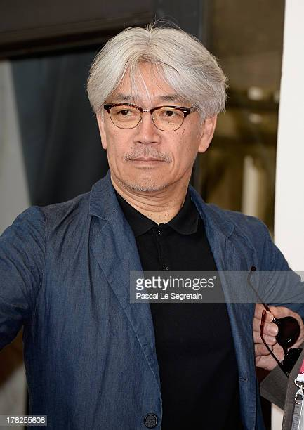 Jury member Ryuichi Sakamoto attends the International Jury Photocall during the 70th Venice International Film Festival at the Palazzo del Casino on...
