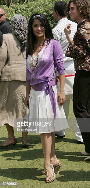 Jury member Salma Hayek attends the Jury Photocall at the 58th International Cannes Film Festival on May 11 2005 in Cannes France