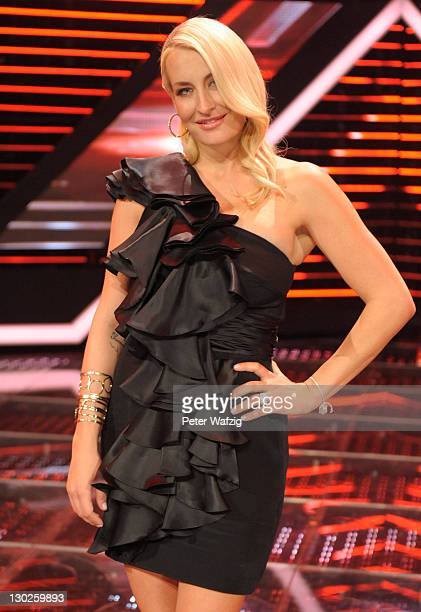 Jury member Sarah Connor during the winners photocall at the 'The X Factor Live' TVShow on October 25 2011 in Cologne Germany