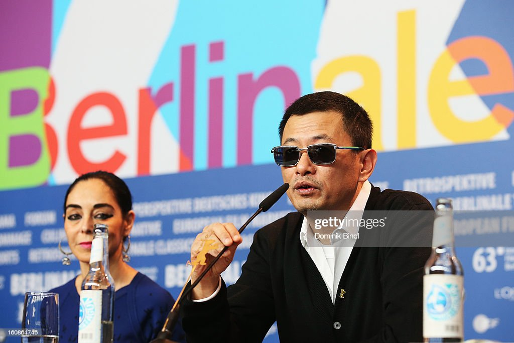 Jury member Shirin Nashat and jury president Wong Kar Wai attend the International Jury Press Conference during the 63rd Berlinale International Film Festival at the Grand Hyatt on February 7, 2013 in Berlin, Germany.